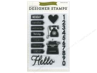Stamps ABC & 123: Echo Park Clear Stamp Set A Week In The Life