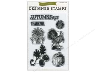 Rubber Stamping Fall / Thanksgiving: Echo Park Clear Stamp Set Hello Fall