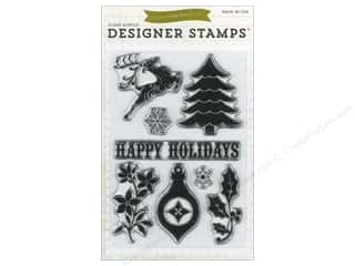Christmas Clear: Echo Park Clear Stamp Set Happy Holidays