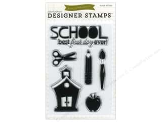 Clear Scraps Back To School: Echo Park Clear Stamp Set Back-To-School
