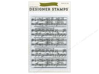 Stamps Music & Instruments: Echo Park Clear Stamp Set Musical Notes Background