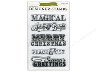 Echo Park Paper Company Chipboard: Echo Park Clear Stamp Set Christmas Sentiments