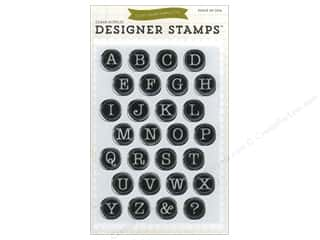 ABC & 123 Clear: Echo Park Clear Stamp Set Typewriter Alphabet