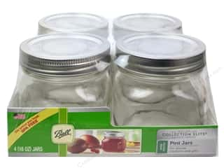 Glass Jars / Plastic Jars $3 - $6: Ball Elite Mason Jars 4 pc. Wide Mouth 16 oz. Pint