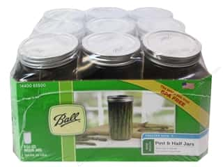 Glass Jars / Plastic Jars Scrapbooking & Paper Crafts: Ball Maron Jars 24 oz. Pint & Half Wide Mouth