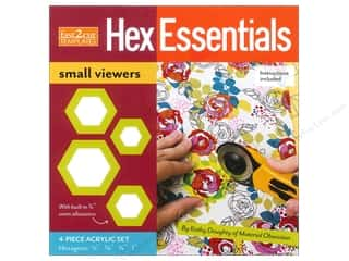 Stash Books An Imprint of C & T Publishing Gifts & Giftwrap: C&T Fast2Cut Hex Essentials Small Viewers Templates 4 pc.