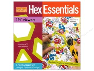 "Stash Books An Imprint of C & T Publishing Toys: Stash By C&T Fast2Cut Template Hex Essentials 1.5"" Viewers"