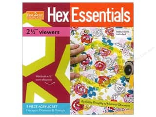 "Stash Books An Imprint of C & T Publishing Book-Needlework: Stash By C&T Fast2Cut Template Hex Essentials 2.5"" Viewers"