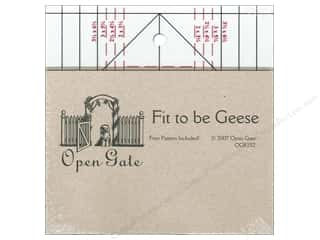 Weekly Specials Quilting: Open Gate Quilts Rulers Fit to Be Geese
