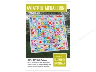Borders Drawing: Elizabeth Hartman Aviatrix Medallion Quilt Pattern