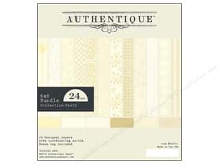 Religious Subjects $4 - $6: Authentique 6 x 6 in. Paper Bundle Faith 24 pc.
