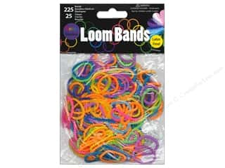 Midwest Design Loom Band Beaded Bright 250pc
