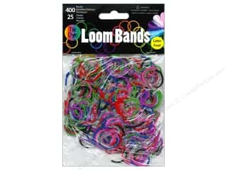 Elastic Clear: Midwest Design Loom Band Clear Tie-Dye Multi 425pc