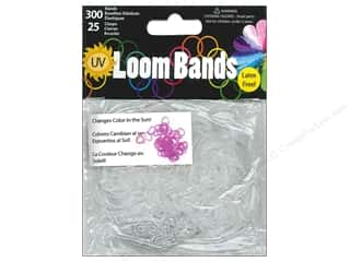 Elastic Clear: Midwest Design Loom Band UV Clear to Purple 325pc