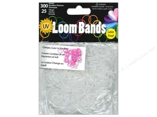 Midwest Design Loom Band UV Clear to Pink 325pc