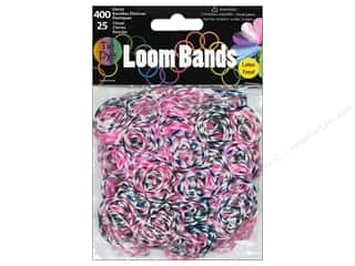 Rubber / Elastic Bands: Midwest Design Loom Band Plum Tie-Dye 425pc