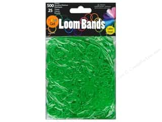 Midwest Design Loom Band Neon Gel Green 525pc