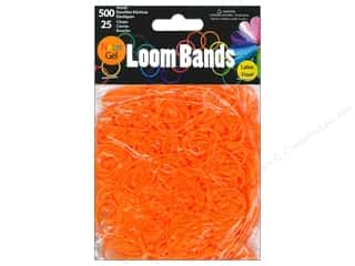 Midwest Design Loom Band Neon Gel Orange 525pc