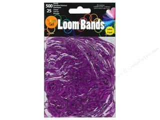 Midwest Design Imports Beading & Jewelry Making Supplies: Midwest Design Loom Band Neon Gel Purple 525pc