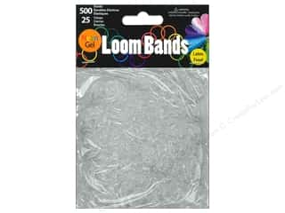 Midwest Design Loom Band Neon Gel White 525pc
