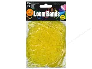 Midwest Design Loom Band Neon Gel Yellow 525pc