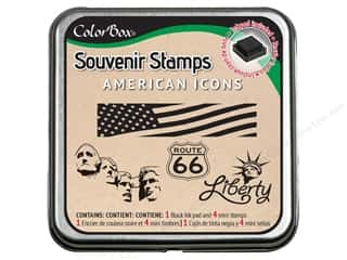 Rubber Stamping Vacations: ColorBox Stamp Souvenir American Icons
