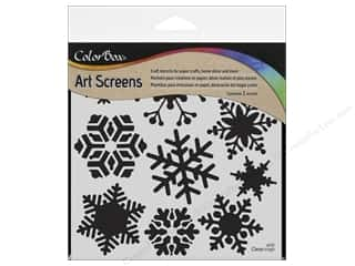 Stencils Winter Wonderland: ColorBox Art Screens Stencil Blizzard