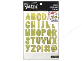 K&Co Smash Stickers Alphabet Gold