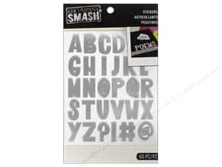 K&Co Smash Stickers Alphabet Silver