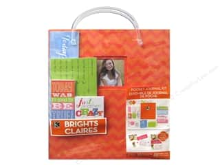 "Zig Clear: K&Company Pocket Journal Kit 8.5""x 11"" Zig Zag Orange"