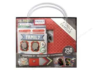 "Family Clear: K&Company Scrapbook Kit 8""x 8"" Family"