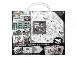 "Scrapbook / Photo Albums K & Company Scrapbook Albums: K&Company Scrapbook Kit 12""x 12"" Everyday Modern Black and White"