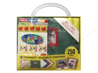 "Crafting Kits $8 - $12: K&Company Scrapbook Kit 8""x 8"" School"