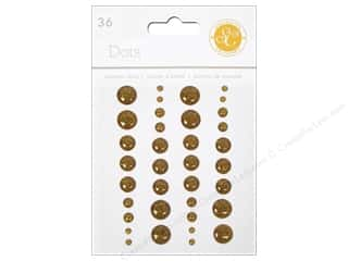Jewelry Making Supplies Doodlebug Sticker: Studio Calico Stickers Essentials Enamel Dots Gold
