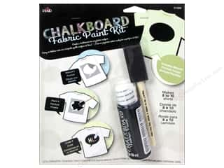 Plaid Chalkboard Paint Fabric Kit Bubble Stencil