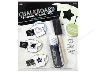 Plaid Chalkboard Paint Fabric Kit Star Stencil