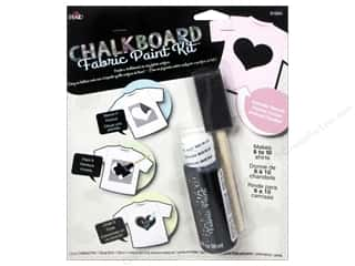 Bottles Hearts: Plaid Chalkboard Paint Fabric Kit Heart Stencil