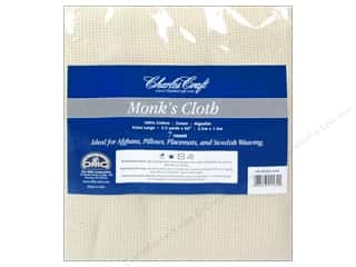 "Cross Stitch Cloth / Aida Cloth 10"": Charles Craft Monk's Cloth 7-count 60 in. x 2 1/2 yd. Natural"