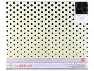 American Girl Scrapbook / Photo Albums: Crate Paper 3-Ring Album 12 x 12 in. Styleboard Charcoal Dots