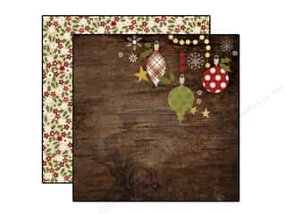 "Christmas Brown: Simple Stories Cozy Christmas Paper 12""x 12"" Deck The Halls (25 pieces)"