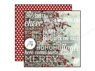 "Simple Stories Holiday Sale: Simple Stories Cozy Christmas Paper 12""x 12"" Let It Snow (25 pieces)"