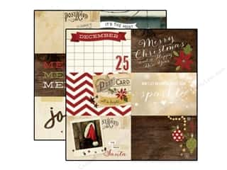 "Christmas $4 - $6: Simple Stories Cozy Christmas Paper 12""x 12"" Journaling Card Elements Horizontal 4""x 6"" (25 pieces)"