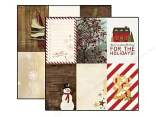 "Captions $4 - $6: Simple Stories Cozy Christmas Paper 12""x 12"" Journaling Card Elements Vertical 4""x 6"" (25 pieces)"