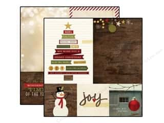 "Patterns $6 - $8: Simple Stories Cozy Christmas Paper 12""x 12"" Quote 4""x 4"" & Photo Mat Elements 6""x 8"" (25 pieces)"