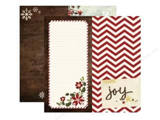 "Winter $6 - $12: Simple Stories Cozy Christmas Paper 12""x 12"" Page Elements 6""x 12"" (25 pieces)"