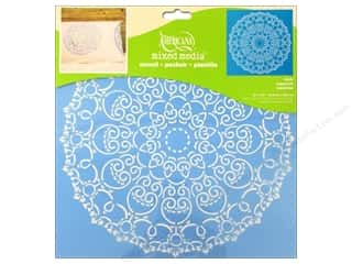 "Stenciling Craft Paint: DecoArt Stencil Americana Mixed Media 12""x 12"" Doily"
