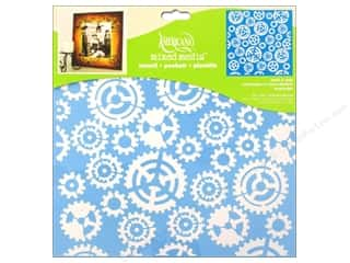 "Kids Crafts Americana: DecoArt Stencil Americana Mixed Media 12""x 12"" Gears"