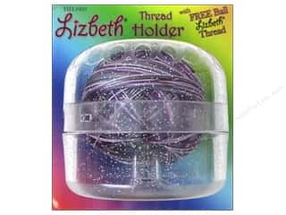 Yarn & Needlework Clear: Handy Hands Notions Lizbeth Tatting Thread Holder Sparkle Clear