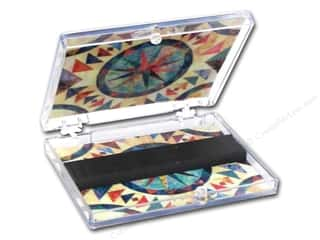 needle case: FotoFiles Needle Case Stained Glass Quilt