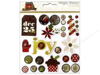 Simple Stories: Simple Stories Cozy Christmas Brads Decorative